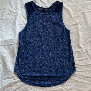 Lululemon blue tank top with mesh